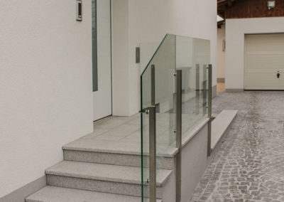 Stiegenaufgang aus Schlögler Granit