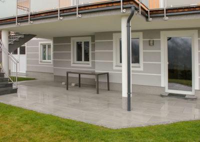 Terrasse aus Keramikplatte 60/60