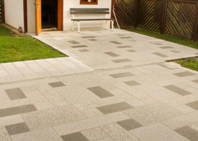 Terrassen aus Granit Mühlviertler Verband, sandgestrahlt
